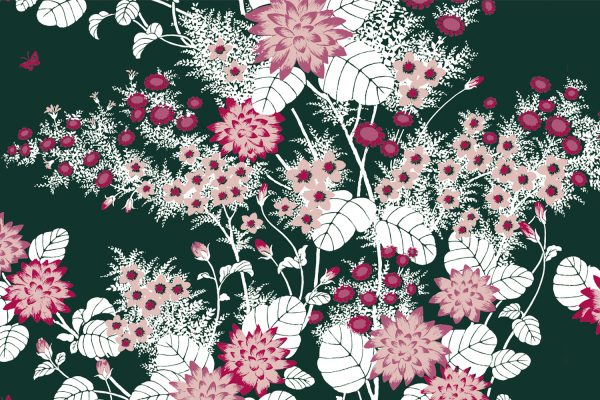 Chinese Floral Forest, Textiles