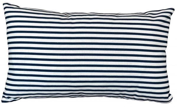 Double Quarter Stripe Navy Cushion
