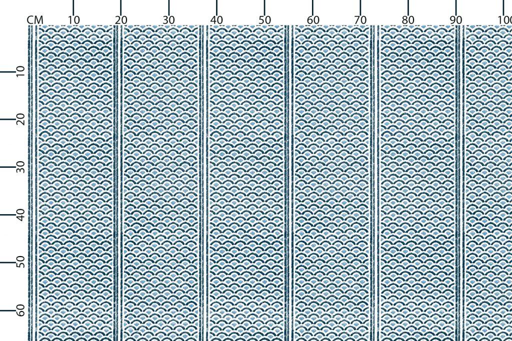 Japanese Panels Lagoon, Textiles