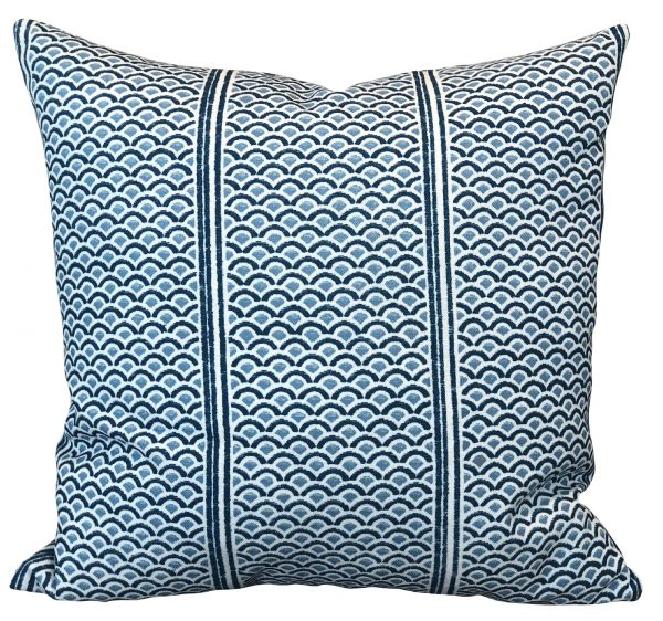 Japanese Panels Lagoon Cushion