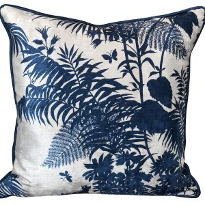 Shadow Floral Marine Cushion