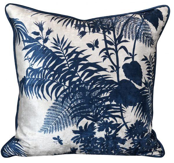 Shadow Floral Marine Cushion