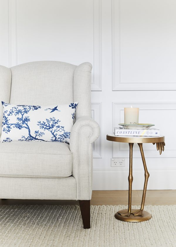 Florence Broadhurst Fabrics, Three Birds Renovations, The Cranes cushion cover