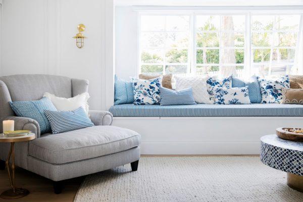 Florence Broadhurst Fabrics, Three Birds Reno, cushion covers