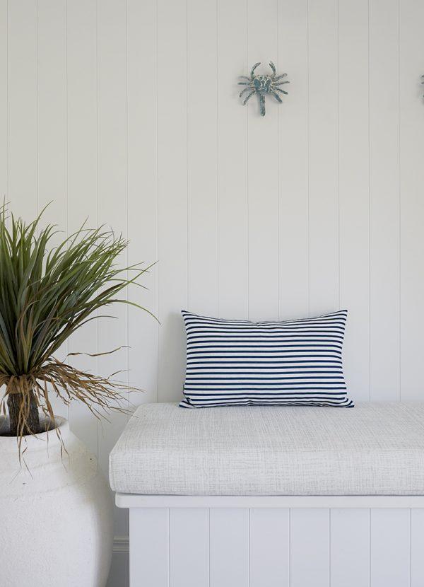 Florence Broadhurst Stripe cushion cover, Three Birds