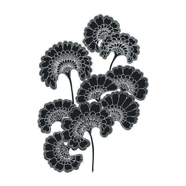 Florence Broadhurst Japanese Floral, Slate, wall art