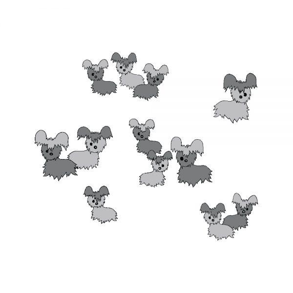 Florence Broadhurst Pups, Shadow, Florence Broadhurst