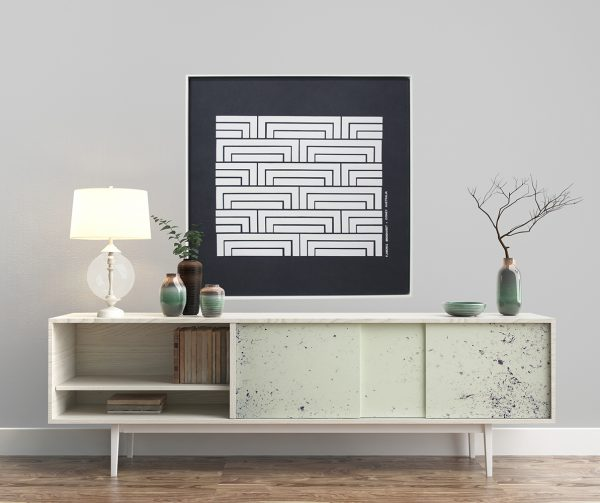 Florence Broadhurst Steps, white frame