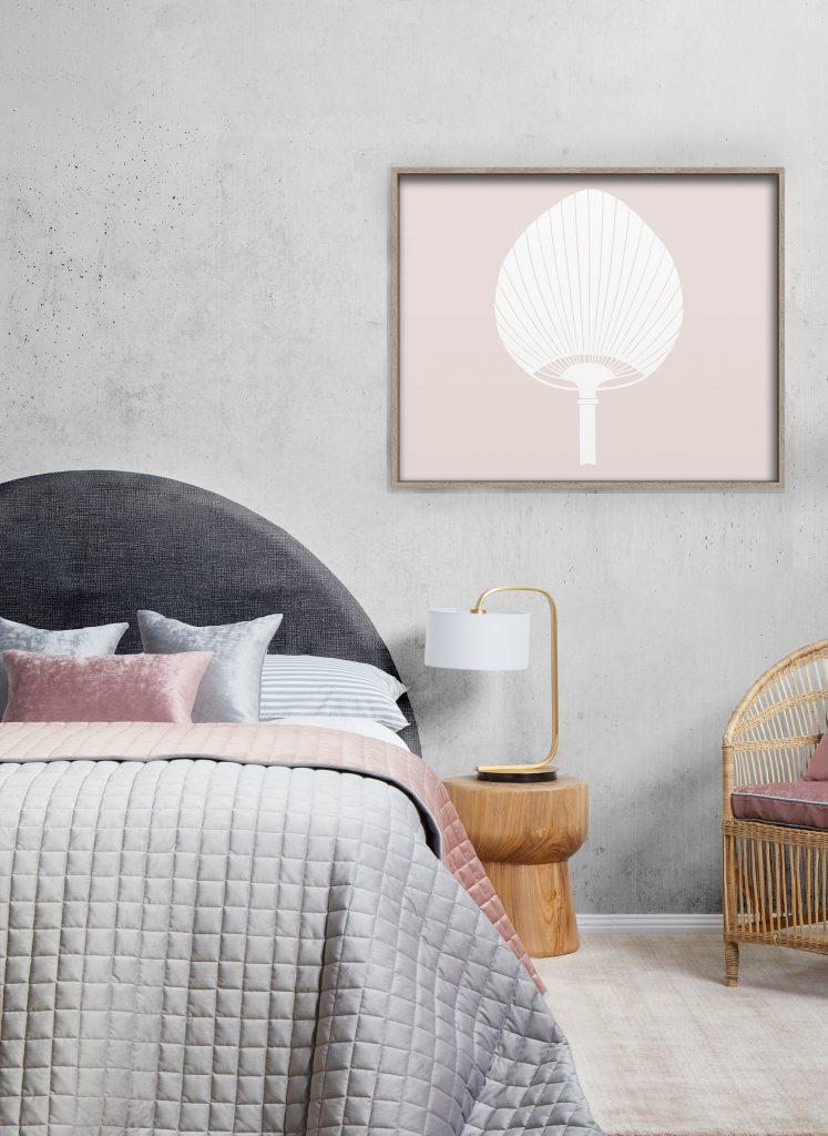 Kabuki Fuzzy Peach Florence Broadhurst Fabrics Framed Canvas Art