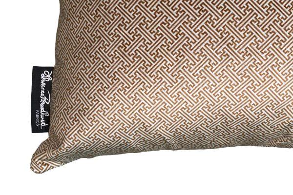 Chinese Key Honey cushion cover on Bone velvet