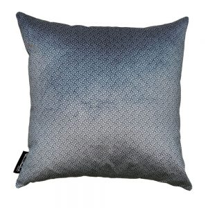 Chinese Key Slate, Silver velvet Euro cushion cover, front