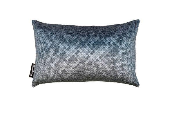 Chinese Key Slate, Silver velvet rectangle cushion cover, front