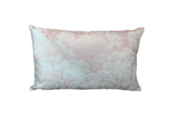 Halftone Clouds cushion cover