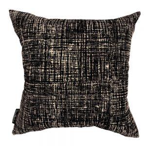 Hessian Noir Euro cushion