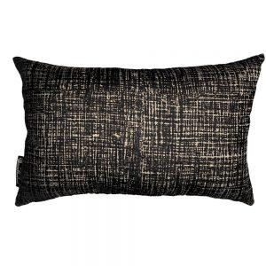 Hessian Noir rectangle cushion