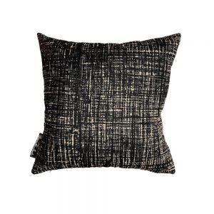 Hessian Noir square cushion