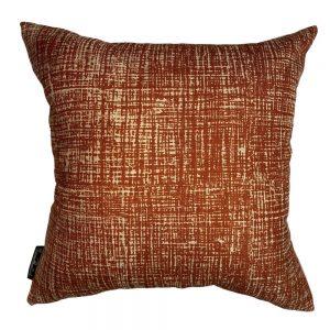 Hessian Rust cushion cover, Euro