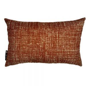 Hessian Rust cushion cover, Rectangle
