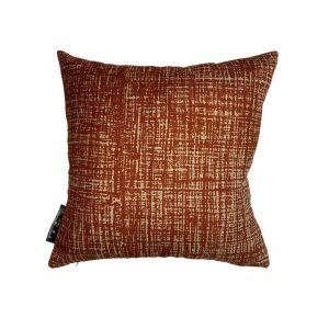 Hessian Rust cushion cover, Square