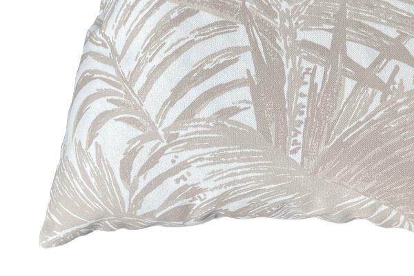 4 Colour Palm Sand cushion closeup, Peau de Peche